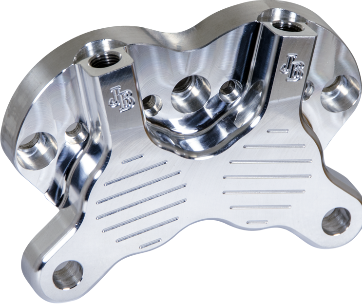 CNC milled four piston motorcycle brake | Horschel Brothers Precision - Springville, New York